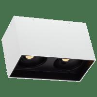 """Exo 6 Dual Flush Mount 6.1"""" Matte White Black 3500K LED 90 CRI 120v 277v UNV 20"""