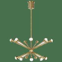 Lody 18-Light Chandelier 18-Light Chandelier Aged Brass 3000K 90 CRI LED 90 CRI 3000k 120v-277v unv (t20/t24)