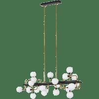 Viaggio Linear Chandelier Opal/Brass 3000K 90 CRI g9 led 90 cri 3000k 120v (t20)