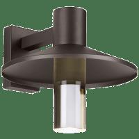Ash 16 Outdoor Wall Bronze Cylinder 2700K 90 CRI High Output, Button Photocontrol