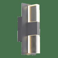 Lyft 12 Outdoor Wall Charcoal Clear 3000K 80 CRI