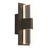 Lyft 12 Outdoor Wall Bronze Clear 3000K 80 CRI In-Line Fuse