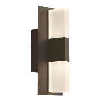 Lyft 12 Outdoor Wall Bronze 4000K Diffuser 80 CRI In-Line Fuse