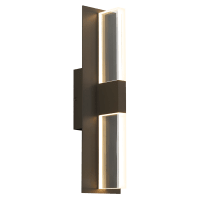Lyft 18 Outdoor Wall Bronze Clear 4000K 80 CRI Surge Protection