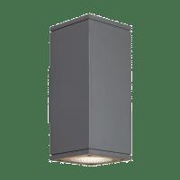 Tegel 12 Outdoor Wall Charcoal 2700K 80 CRI, Uplight & Downlight WWC