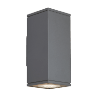 Tegel 12 Outdoor Wall Charcoal 3000K 80 CRI, Button Photocontrol, Uplight & Downlight NNC