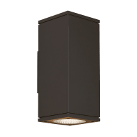Tegel 12 Outdoor Wall Black 4000K 80 CRI, Button Photocontrol, Surge Protection, Downlight Only WC