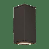 Tegel 12 Outdoor Wall Black 4000K 80 CRI, Button Photocontrol, Uplight & Downlight WWC
