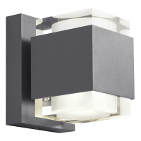 Voto 8 Outdoor Wall Charcoal 2700K 80 CRI Uplight & Downlight Surge Protection