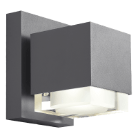 Voto 8 Outdoor Wall Charcoal 3000K 80 CRI Downlight Only