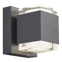 Voto 8 Outdoor Wall Charcoal 3000K 80 CRI Uplight & Downlight Surge Protection
