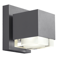 Voto 8 Outdoor Wall Charcoal 4000K 80 CRI Downlight Only Surge Protection