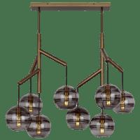 Sedona Double Chandelier Double Transparent Smoke Aged Brass 2700K 90 CRI t14 LED 90 CRI 2700k 120v (T20/T24)