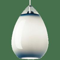 Alina Grande Pendant Steel Blue White no lamp