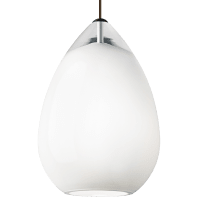 Alina Grande Pendant White Satin Nickel no lamp