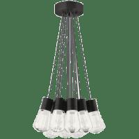 Alva Pendant 11-LITE Chandelier Gray black 3000K-2200K 90 CRI led 90 cri warm color dimming 3000-2200k 120v (t24)