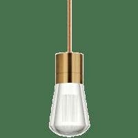 Alva Pendant 1-LITE Copper aged brass 2200K 90 CRI led 90 cri 2200k 120v (t24)