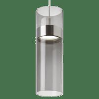 Manette Grande Pendant Transparent Smoke Glass Satin Nickel/Satin Nickel 3000K 90 CRI led 3000k 120v