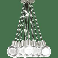Mina Pendant 11-LITE Chandelier Clear Satin Nickel 2200K 90 CRI led 90 cri 2200k 120v (t24)