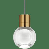 Mina Pendant 1-LITE Clear Aged Brass Black/White 3000K 90 CRI LED 120v (t24)