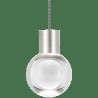 Mina Pendant 1-LITE Clear Satin Nickel Black/White 2200K 90 CRI LED 90 CRI 2200k 120v (t24)