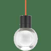 Mina Pendant 1-LITE Clear Black Orange 3000K-2200K 90 CRI LED 120v (t24)