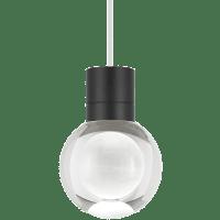 Mina Pendant 1-LITE Clear Black White 3000K 90 CRI LED 120v (t24)