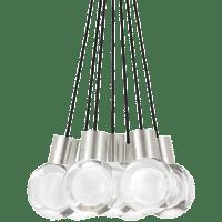 Mina Pendant 7-LITE Chandelier Clear Satin Nickel 3000K 90 CRI LED 120v (t24)