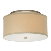 Mulberry Small Flush Mount Small Desert Clay satin nickel no lamp