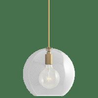 Palestra Medium Pendant Medium Opal/Clear Natural Brass no lamp