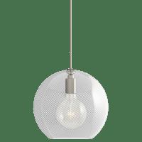 Palestra Medium Pendant Medium Opal/Clear Satin Nickel no lamp