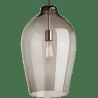 Prescott Pendant Smoke Satin Nickel No Lamp