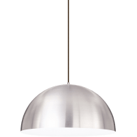Powell Street Pendant Satin Nickel/White Black 3000K 80 CRI g40 led 80 cri 3000k 120v