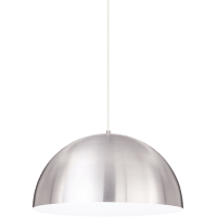 Powell Street Pendant Satin Nickel/White White 3000K 80 CRI g40 led 80 cri 3000k 120v