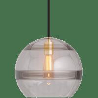 Sedona Large Pendant Transparent Smoke Aged Brass 2700K 90 CRI LED med base t14 90 CRI 2700k 120v