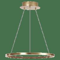 "Vellavi 24 Chandelier 24"" Diameter Natural Brass 2200K 90 CRI Integrated LED 90 CRI 2200k 120v-277v"