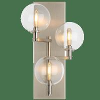 Gambit Triple Wall Triple Clear Satin Nickel no lamp
