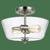 Belton Two Light Ceiling Semi-Flush Mount Brushed Nickel