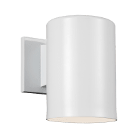 Outdoor Cylinders Small One Light Outdoor Wall Lantern White