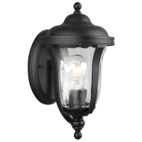 Perrywood Extra Small One Light Outdoor Wall Lantern Black Bulbs Inc