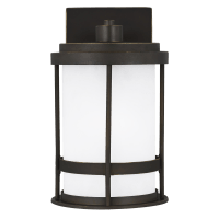 Wilburn Small One Light Outdoor Wall Lantern Antique Bronze Dark Sky