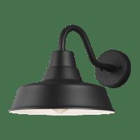 Barn Light Medium One Light Outdoor Wall Lantern Black Bulbs Inc