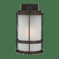 Wilburn Medium One Light Outdoor Wall Lantern Antique Bronze