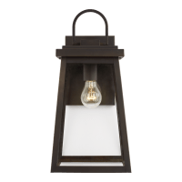 Founders Large One Light Outdoor Wall Lantern Antique Bronze