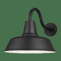 Barn Light Extra Large One Light Outdoor Wall Lantern Black