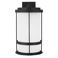 Wilburn Extra Large One Light Outdoor Wall Lantern Black Dark Sky