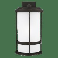 Wilburn Extra Large One Light Outdoor Wall Lantern Antique Bronze Bulbs Inc Dark Sky