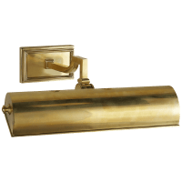 """Dean 12"""" Picture Light in Natural Brass"""