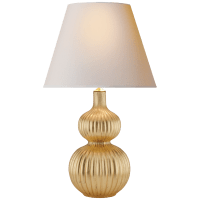 Lucille Table Lamp in Gilded with Natural Paper Shade