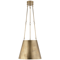 Lily Hanging Shade in Natural Brass